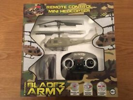 Bladez Remote Control Mini Army Helicopter (New and Sealed)