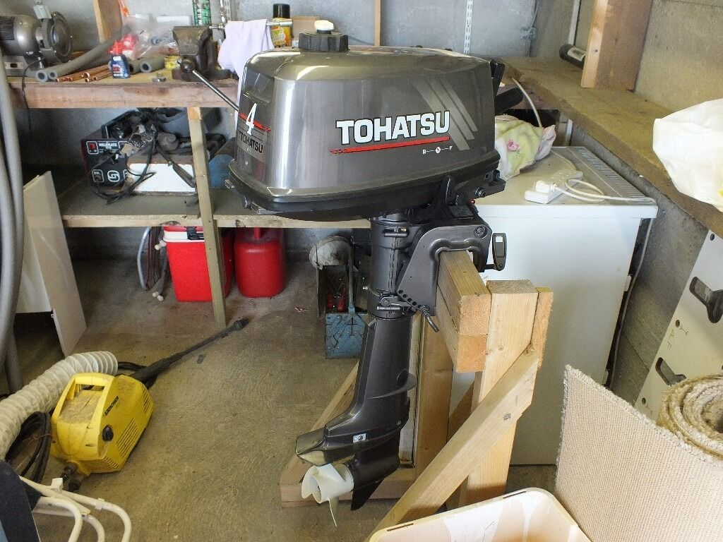 Tohatsu 4hp outboardin Herne Bay, KentGumtree - Tohatsu 4hp 2 stroke, runs well , in excellent condition, forward, neutral, and reverse gears only ever used as back up engine on fishing boat so very little use. £300.00