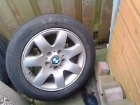 "BMW E46 E36 E39 16"" ALLOYS WITH TYRES/TIRES"