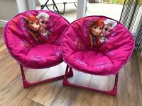 Two play chairs with the frozen theme in excellent condition great play value