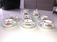 Thomas Bavaria Set of 6 cups with milk jug and sugar bowl