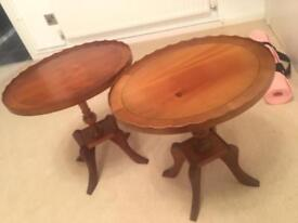 2 side coffee tables - £30 for both, shabby chic project