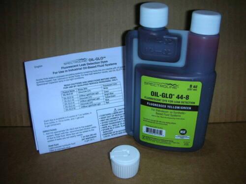 SPECTROLINE OIL-GLO 44-8 Dye, Oil, Glows Yellow/Green, 8oz. NEW!