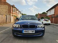 BMW 1 Series 2.0 118d SE Hatchback 5 Door Manual Blue 12 Months MOT and £30 Road Tax.