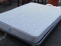 Double king size mattress on metal frame