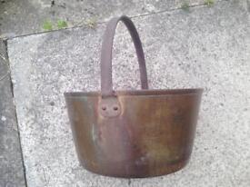 Copper Pot, Jam Pot, Camp Fire Cook Pot