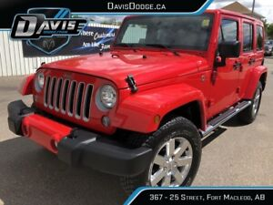2016 Jeep Wrangler Unlimited Sahara 4X4! Remote start! As low...