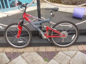 Bicycle, Barracuda, Torsion with front and rear suspension, Shimano Gears