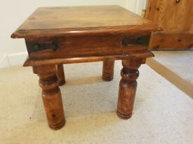 Solid wood side table
