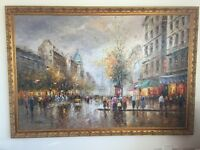 Paris Investment painting by Christoph Vewers - signed and framed to sell