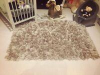 Taupe/Beige shaggy super soft rug