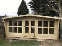 16x8 tanalized t&g summer house