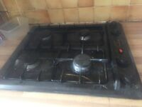 Gas cooker worktop