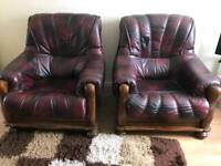 2 leather arm chairs