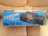 New Sharp - twin cassette player