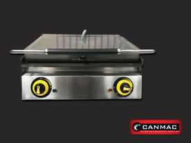 """CANMAC Silver Panini Contact Grill /Sandwich Toaster 20"""""""