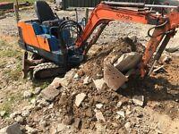 Kubota kh36 mini digger/excavator no vat 3 buckets