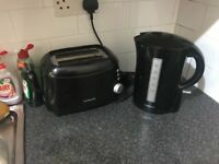 Kettle and toaster black