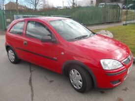VAUXHALL CORSA 2005 1.0 PETROL 3DR HATCHBACK IN RED