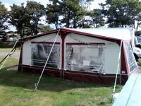 Isabella Ventura Atlantic Caravan Awning in Burgundy Size 12 (1000cm) fibreglass poles
