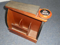 Vintage Shoe Shine Box with Foot Rest