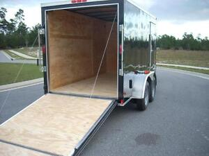 New 6x12 Enclosed Trailer Cargo Tandem Dual V-Nose Utility Motorcycle 14 Lawn