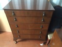Lovely Mahogany Bedroom Furniture - Wardrobe Dressing Table Chest and bedside Drawers