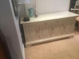 Cream solid wood sideboard