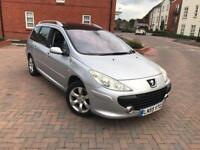 2005/55 REG PEUGEOT 307sw HDI DIESEL ESTATE 2 F KEEPERS LEATHERS