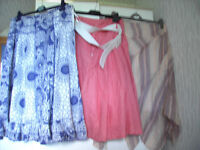 LADIES SIZE 14, BRAND NEW CLOTHING, APPROXIMATELY 33 VARIOUS ITEMS, PLUS GENTS BRAND NEW CLOTHING