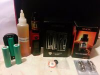 Releaux RX 2/3 Box mod + batteries + Smok TFV8 Beast tank + Coils - Vape - Ecig - REDUCED