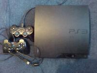 console playstation 3 320 gb slim + 3 games skyrim final fantasy X oblivion