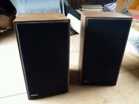Two Hitachi speakers