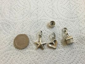 3 bracelet charms from LINKS of London