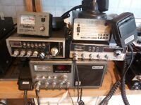 CB Radios Job lot - radios including power supply, swr meters, mics.