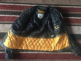 Superdry leather biker XL