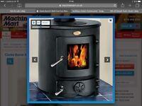 Clarke barrel 8kw cast iron wood burner stove