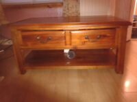coffee table with full drawer