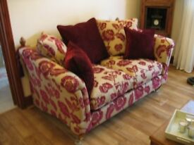 Two immaculate 2 seater sofas. These are beautiful sofas bought 4 years' ago and hardly used.