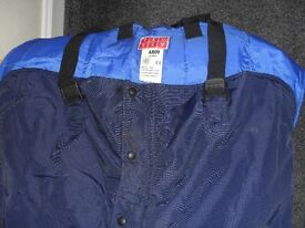 Bib and Brace Blue Padded Overalls Mens Work Trousers 2X £5