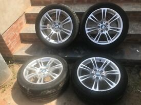 "18"" Genuine Bmw 5 series F10 F11 Style 350m Alloy Wheels pcd 5x120"