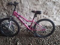 Girls 18 gear mountain bike age 9-12 excellent condition £60