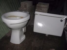 old style toilet and cistern