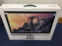 Apple iMac 27-inch with Retina 5K display 4.0 GHz QC i7, 16GB RAM, 512GB SSD, Graphic 4GB, Late 2014