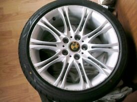 BMW MV2 18 INCH REPS SET 4,, NEW TYERS,,