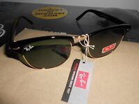 100% Genuine Rayban Wayfarers in Black and Gold with plastic wrap bag. A bargain!!