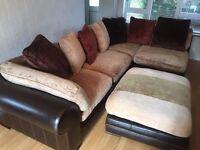 Dark Brown Tetrad Hemingway, (Hemmingway) Leather Corner Sofa