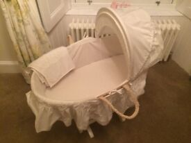 Immaculate Moses Basket with gliding stand