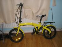 folding bike yellow as photo