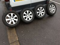 15 inch Original Peugot Alloys With Almost Brand New Tyres Will Fit Most Peugots